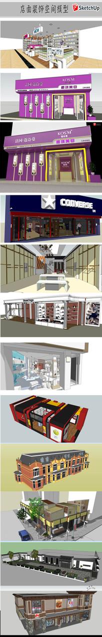 店面建筑装饰模型
