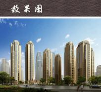 高层小区建筑景观 JPG