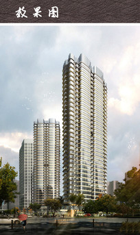 商务小区建筑景观效果图 JPG
