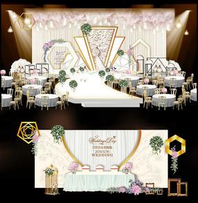 香槟色浅粉色主题婚礼设计