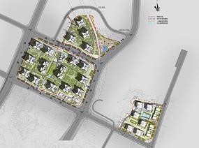 小区建筑景观平面图
