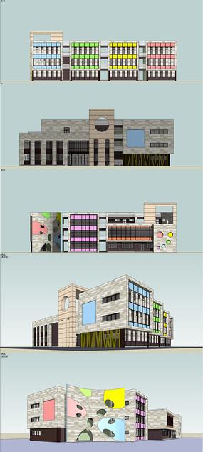 幼儿园建筑设计SU