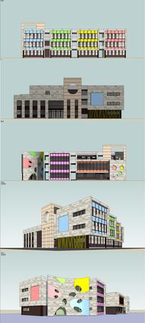 幼儿园建筑设计SU skp