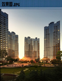 住宅绿化景观效果图JPG