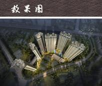 综合商业住宅区鸟瞰图