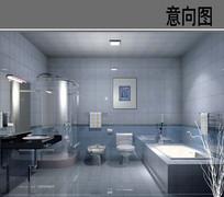 瓷器现代感卫生间 JPG