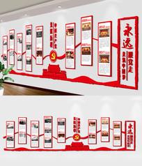 红色党建文化墙党的光辉历程展板