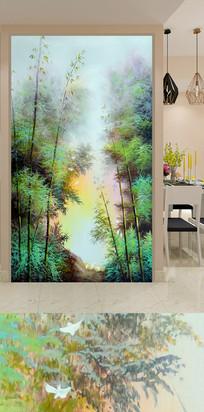 郊外竹林玄关装饰画