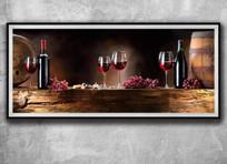 欧式品牌红酒挂画