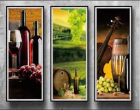 葡萄红酒软装挂画