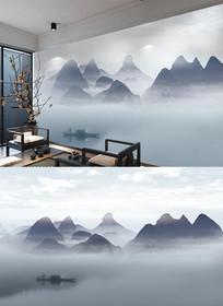 禅意新中式背景墙