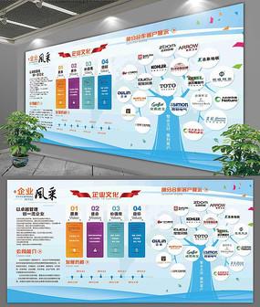 大气企业员工风采背景文化展板