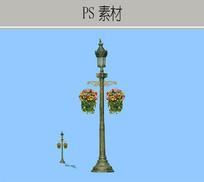 景观金属灯具 PSD