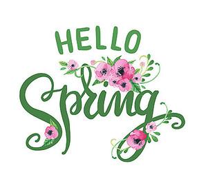 spring英文字体设计