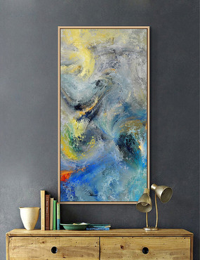 现代抽象油画装饰画