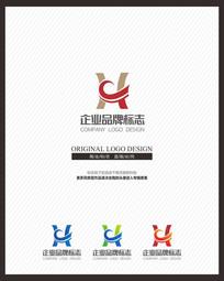 创意H字母变形鼎诚信企业标志