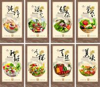 创意食堂文化宣传展板设计