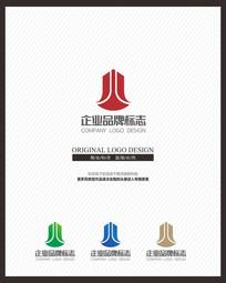 创意字母J商业地产交易标志 CDR