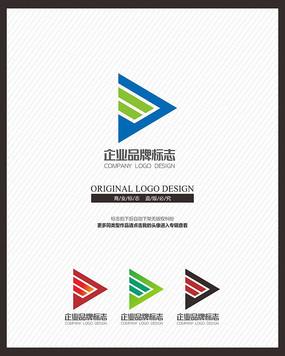 动感创意运动品牌标志设计