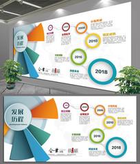 公司发展历程企业文化展板 PSD