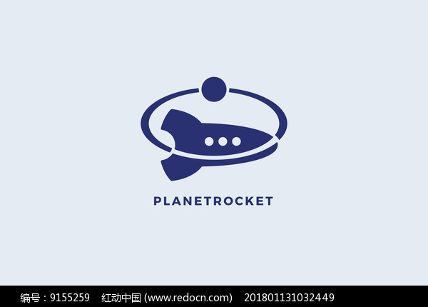 航空火箭创意logo设计图片