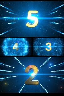 蓝色震撼粒子穿梭5秒倒计时