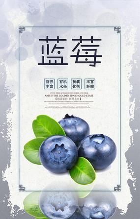 美味蓝莓海报
