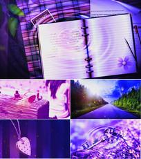 歌曲记事本舞台背景视频