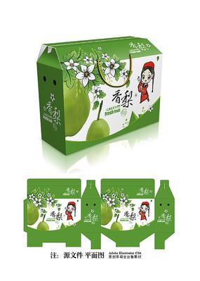 清新香梨包装设计
