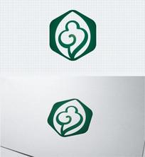养生祥云中国风绿色标志 AI