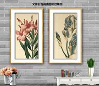 手绘兰花客厅装饰画
