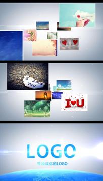 照片汇聚LOGO的AE模版