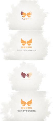 中国风水墨logo演绎模板