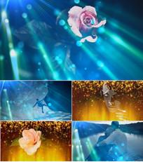 歌曲男人花舞台背景视频