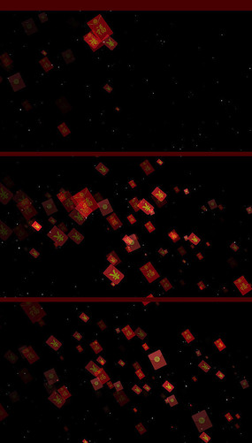 带通道红包飘落视频素材