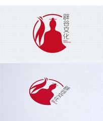 道家辟谷养生中国风仙鹤标志