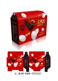 土鸡蛋礼品包装设计