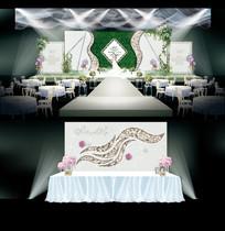 大理石纹主题婚礼AI设计 AI