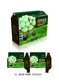 绿壳鸡蛋包装设计 AI