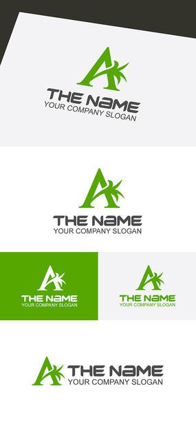 绿色A字母LOGO标志