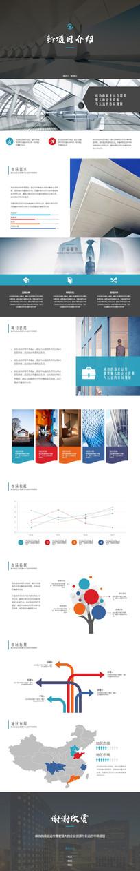 项目介绍产品宣传PPT模板