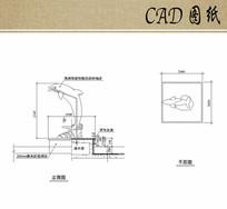 海豚雕塑平立面CAD dwg