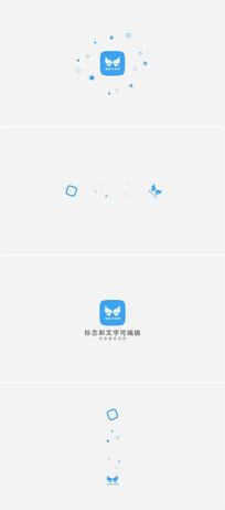简洁扁平化logo演绎模板
