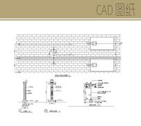 景观灯柱平立面图 CAD