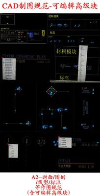 可编辑块CAD制图规范 dwg