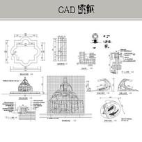 喷泉雕塑水池CAD CAD