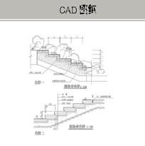 砌块砖台阶CAD CAD
