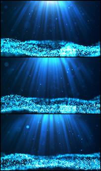 唯美蓝色绚丽粒子海LED视频