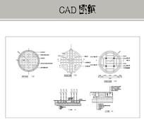 圆形喷泉旱喷CAD CAD