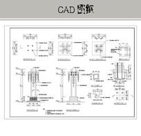 中式红灯笼街灯 CAD